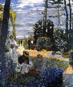 The Terrace at Vasouy - The Garden - Edouard Vuillard