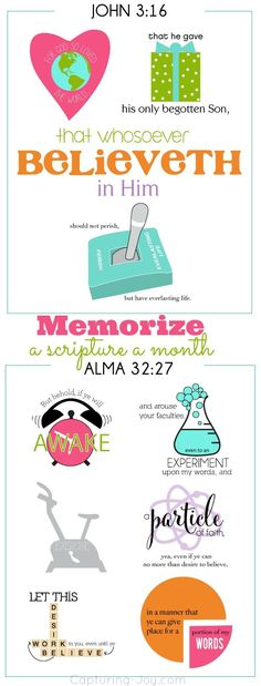 Memorize a scripture a month as a family with this free printable!