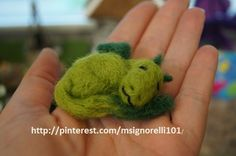 Baby needle felted dragon. Idea came from etsy. For more ideas go to http://pinterest.com/msignorelli101/my-homemade-fairy-garden/