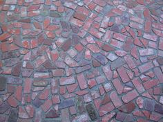 An inexpensive idea if you get them free. recycled bricks #landscaping