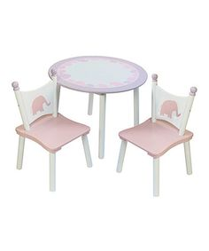 Loving this Pink Elephant Table & Chair Set on #zulily! #zulilyfinds