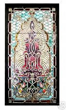 5028 Large Beveled, Rippled & Stained Glass Window in Antiques Stained Glass Lamp Shades, Stained Glass Door, Leaded Glass, Painting On Glass Windows, Antique Bedroom Furniture, Floor Cloth, Bohemian Art, Antique Chandelier, Glass Ceiling