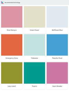 Rose Marquis, Emergency Zone, Lazy Lizard, Green Power, Tidewater, Tropics, Bellflower Blue, Peaceful River, Heart Breaker