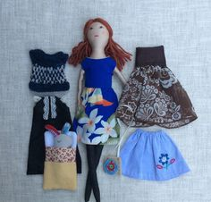 Becca is a dress-up cloth doll made for active, quiet and imaginative play for children of all ages. Made in a pet free, smoke free environment, she is