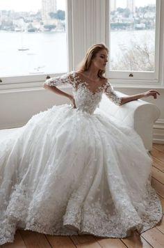 Featured Dress: Steven Khalil; Wedding dress idea.