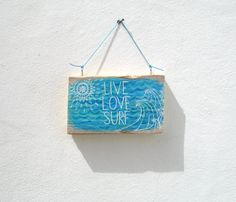 Mini Hand Painted Reclaimed Wood Driftwood Sign With by GeoJoyful