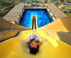 Dubai vacations Illustration Description Take new heights in the famous Aqua waterpark in Dubai – Read More – Dubai Vacation, Dubai Travel, Luxury Travel, Abu Dhabi, Attraction, Dubai Golf, Dubai Uae, Floating Restaurant, Dubai Holidays
