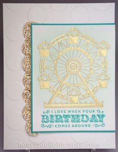Heart's Delight Cards: Carousel Birthday, Ferris Wheel