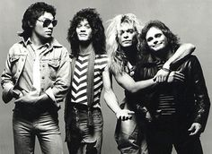 Van Halen is a hard rock band which formed in 1972 in Pasadena, California, United States. The band was originally called Mammoth and changed their name to Van Halen by The band\'s first studio album, \ David Lee Roth, Sammy Hagar, Music Rock, 80s Music, Music Fest, Indie Music, Eddie Van Halen, Ozzy Osbourne, Blues Rock
