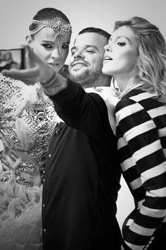 Zuzanna Kołodziejczyk, Michał Piróg i Anja Rubik.  Top Model 3, odcinek 10: backstage sesji Rama Shergilla, fot. Agnieszka Taukert dla Spark