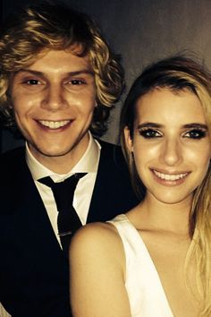 Emma Roberts escorted her boyfriend Evan Peters to the premiere of his FX show American Horror Story: Coven on Oct. 5, 2013 in West Hollywoo...
