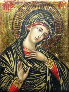 La più piccola icona che ho mai realizzato :) Madre di Dio, 6X8 cm, icona da viaggio