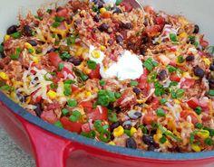 Crock-Pot Burrito Bowls - thm e (skip oil, limit cheese fat, consider quinoa for protein)