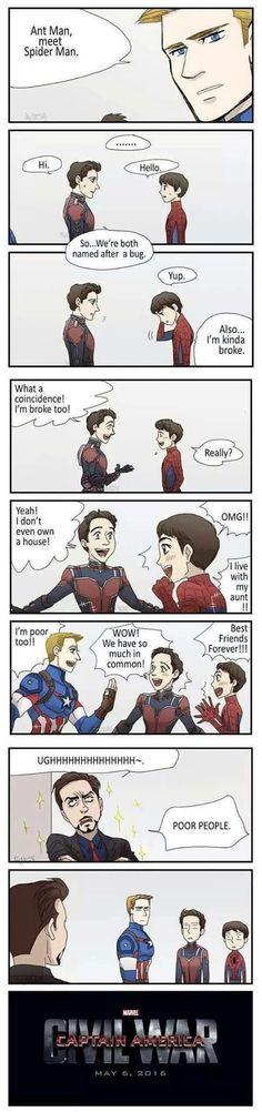 Funny Marvel Memes, Dc Memes, Avengers Memes, Marvel Jokes, Marvel Dc Comics, Marvel Heroes, Funny Comics, Marvel Avengers, Funny Memes