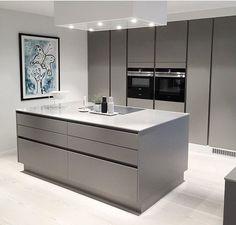 Beautiful grey kitchen | Schöne graue Küche. #ki... - #beautiful #graue #grey #ki #kitchen #kochinsel #Küche #schöne