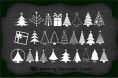 KGChristmasTrees font by Kimberly Geswein - FontSpace