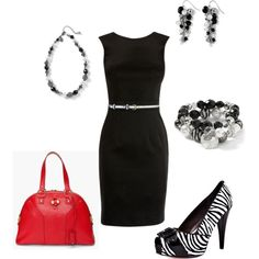 Little Black Dress worn 5 ways., created by wcatterton.polyvore.com