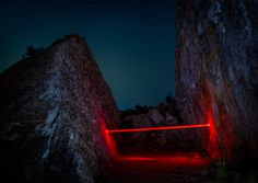 """La Línea Roja"" (The Red Line) is the latest project by French photographer Nicolas Rivals, featuring geometric light installations across the Spanish countryside. ""A red line woven over a journey through Spain, to connect Man with nature. A red line to fix a moment of poetry. Unreal scenes which existed for a night to disappear in the morning. An installation left as a proposition to the natural world. A luminous harmony between will and chance. Between tribute and sacrilege...."