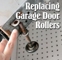 Shows How To Replace Garage Door Rollers. Goal Is To Make The Garage Door A