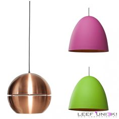 Leef Uniek | Nieuws | Hanglampen *Verlichting met een prachtige unieke look!*