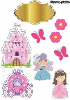 Fairy Tale Free Printable Cake Toppers. Princess Cake Toppers, Frozen Cake Topper, Frozen Cake Decorations, Cake Decorating Kits, Cake Templates, Fashion Wall Art, Cute Anime Character, Princesas Disney, Baby Dolls