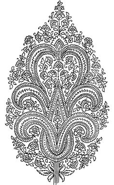 Dover Publications: Paisley coloring page