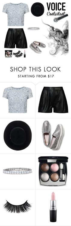 """""""The Voice"""" by k-elma ❤ liked on Polyvore featuring Adrianna Papell, 8, Eugenia Kim, Keds, Chanel, MAC Cosmetics, thevoice and YahooView"""