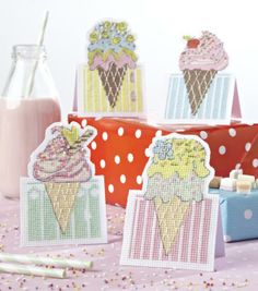 How sweet are these ice cream cards from CrossStitcher? Download the chart and key for free.