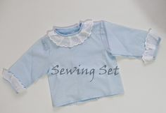 Sewing Set: PATRONES 13: CAMISA DE RECIÉN NACIDO Knitting For Kids, Baby Knitting, Crochet Baby, Kids Patterns, Baby Online, Baby Sewing, Baby Boy Outfits, Baby Dress, Kids Fashion