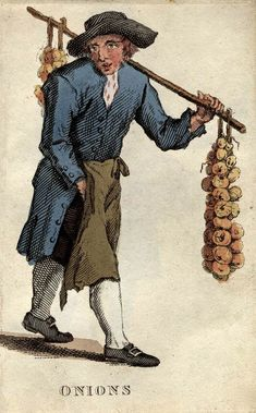 """""""Onions"""" from """"Costume of the Lower Orders of the Metropolis"""" by T. L. Busby (1820)"""