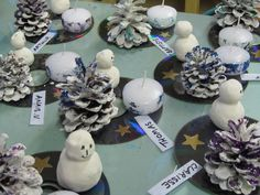 A nice DIY idea for Christmas, sent - Prépa & # Materestelle - Noël - noel Frozen Christmas, Christmas Time, Xmas, Christmas Art Projects, Christmas Crafts For Adults, Cool Diy, Christmas Tablescapes, Christmas Decorations, Diy And Crafts