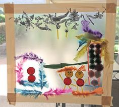 create art work using sticky contact paper and found items Contact Paper, Contact Sheet, Reggio Children, Post It Art, Crafts For Kids, Arts And Crafts, Preschool Activities, Preschool Age, Toddler Development