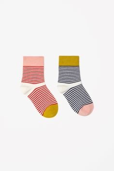 Finely striped socks