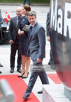 Crown Prince Frederik and Crown Princess Mary of Denmark attend official visit to Canada - Day 2 at MARS Discovery District on September 2014 in Toronto, Canada. Canada Day, Toronto Canada, Mars Discovery, Crown Princess Mary, Denmark, Centre, September