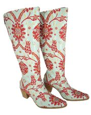 Theses are gorgeous in person!!! Rockwell Tharp Ladies Bora Bora Knee High Embroidered Boot