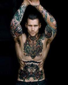тату модель marshall perrin male tattoo model marshall perrin - The world's most private search engine Hot Guys Tattoos, Sexy Tattoos, Tribal Tattoos, Men With Tattoos, Tattoo Guys, Sailor Tattoos, Intim Tattoo, Marshall Perrin, Sexy Tattooed Men