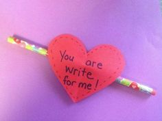Day for kids Valentines Day DIY Pencil Toppers Homemade Valentines Day Cards, Valentines Day Treats, Valentines For Kids, Valentine Day Crafts, Valentine Ideas, Diy Pencil, Valentine's Day Crafts For Kids, Daycare Crafts, Kids Diy