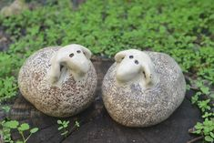 Ceramic sheep. Pair of sheeps. Sheep sculpture. by SomepArtsOfMe