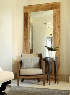 Specchio XL da terra cornice in legno massello anche su misura Xlab Design