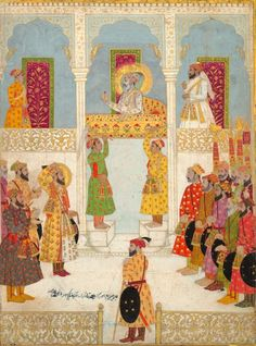 Audience granted by Emperor Shah Jahan to Lahore to his son, Prince Aurangzeb