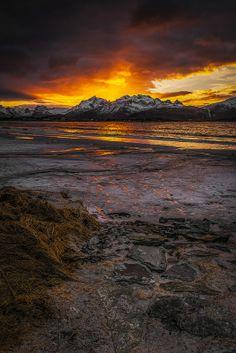 Sunset in Ramberg, Norway