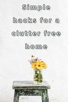 Top tips and easy hacks to make your home clutter free. if you long to get decluttering but don't know where to start let this be your guide to a cleaner, clearer more minimalist home that is so easy to keep tidy #declutter #clutter #clutterfree #decluttering #home Beautiful Space, Beautiful Homes, Easy Hacks, Clutter Free Home, Amazing Transformations, Small Homes, Beautiful Bathrooms, Decluttering, Minimalist Home