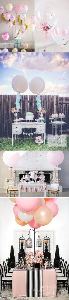 Globos para decorar bodas y fiestas