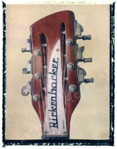 Rickenbacker Guitar headstock art print 11 x by artfulmusicianNY, $25.00