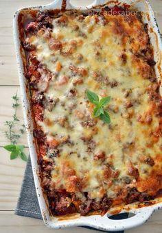 Lasaña de calabacita (sin pasta, sin carbohidratos, sin gluten) www.pizcadesabor.com