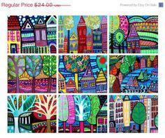 50 OFF TODAY   Landscape Art  ACEO Art Cards  by HeatherGallerArt, $12.00