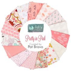 Pretty in Pink Fat Quarter Bundle<BR>Curated by Pat Bravo for Art Gallery Fabrics ***** I THINK THIS HAS THAT FABRIC IN IT U LIKE!  If so then THIS can be used to make the coordinating items!