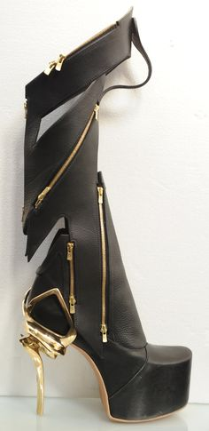 Now *these* are made for walking! Multi-zipper boots - chang jung kim