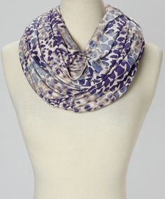 Take a look at this Lilac & White Leopard Infinity Scarf by Loveappella on #zulily today!