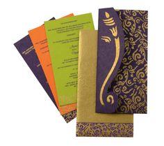 D Orange Color Handmade Paper Light Weight Cards Designer
